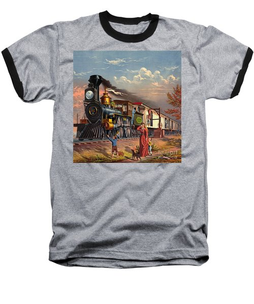 Fast Mail 1875 Baseball T-Shirt by Padre Art