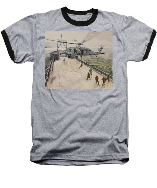 Baseball T-Shirt featuring the painting Fast Rope by Stan Tenney