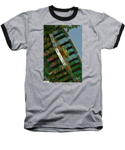 Baseball T-Shirt featuring the photograph Faster And Faster We Go by Ramona Whiteaker