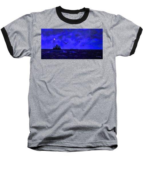 Fastnet Light Ireland Night Baseball T-Shirt