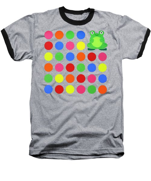 Discofrog Remix Baseball T-Shirt by Oliver Johnston
