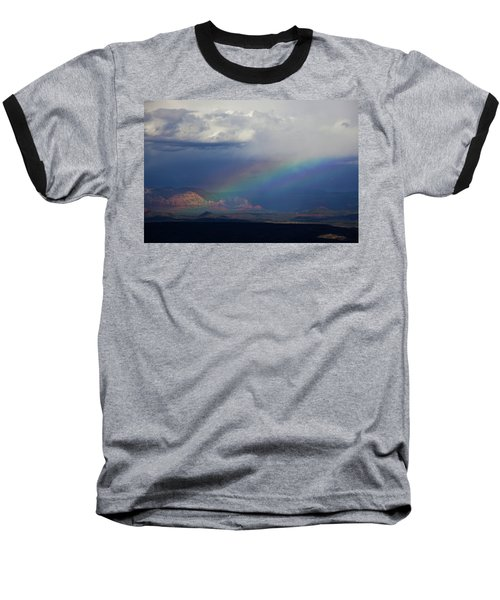 Fat Rainbow, Sedona Az Baseball T-Shirt by Ron Chilston