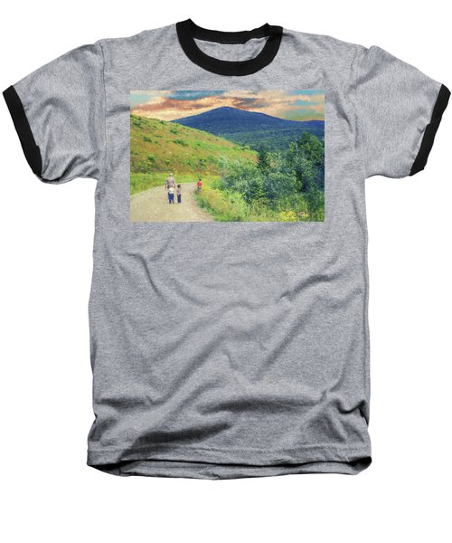 Father And Children Walking Together Baseball T-Shirt