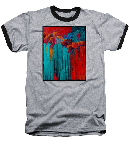 Waterfall Baseball T-Shirt by Nancy Jolley
