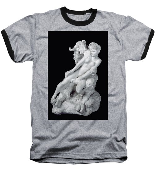 Faun And Nymph Baseball T-Shirt by Auguste Rodin