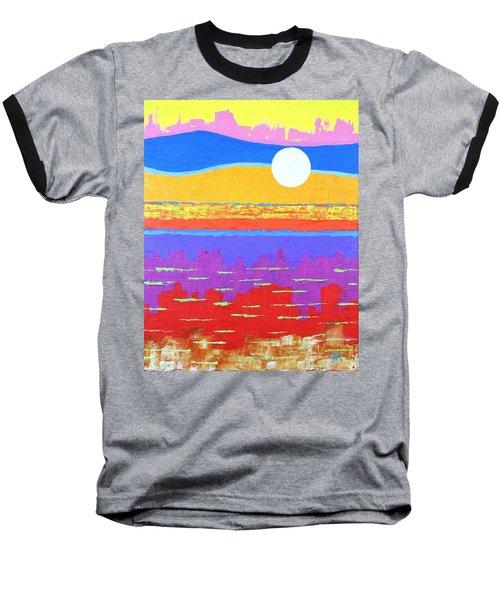 Fauvist Sunset Baseball T-Shirt by Jeremy Aiyadurai