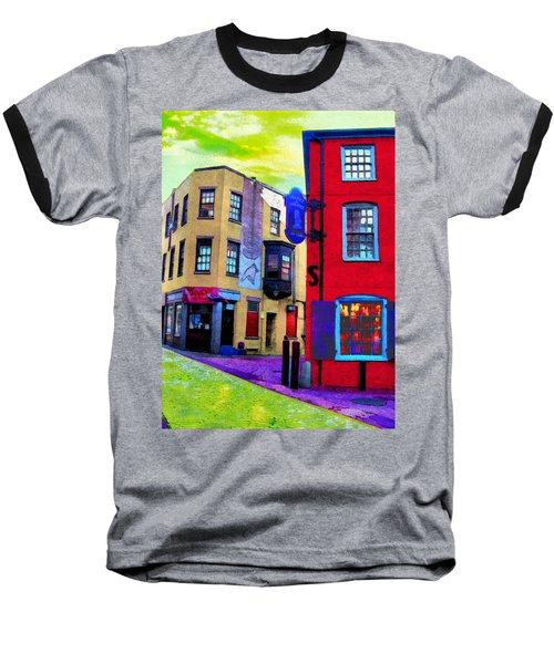 Faux Fauve Cityscape Baseball T-Shirt