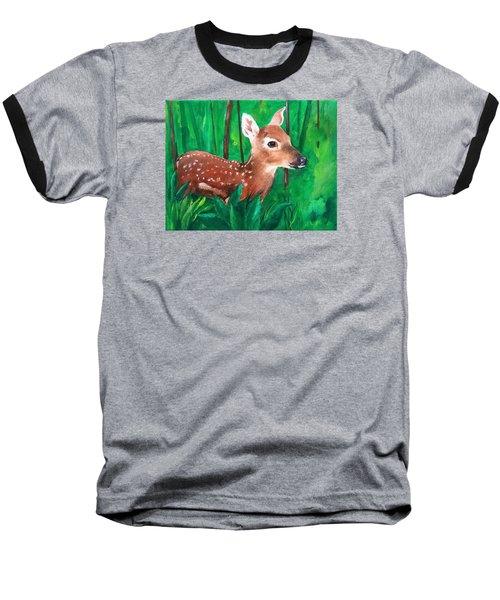 Fawn Baseball T-Shirt by Ellen Canfield