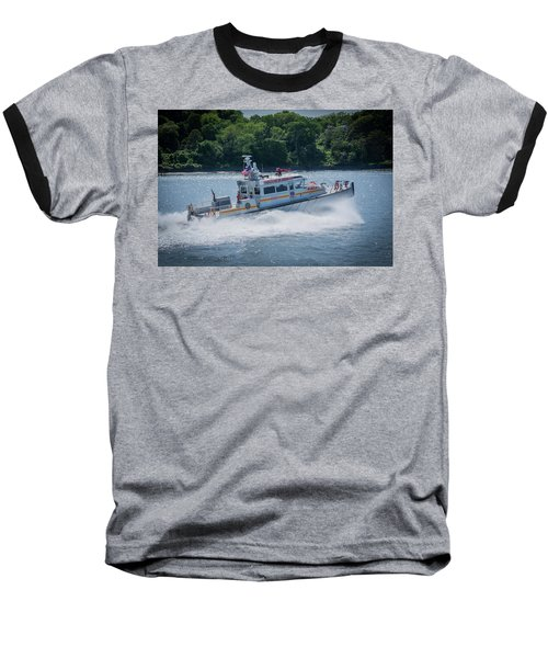 Fdny Fire Boat Baseball T-Shirt
