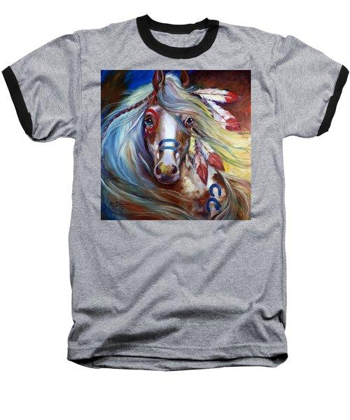 Fearless Indian War Horse Baseball T-Shirt