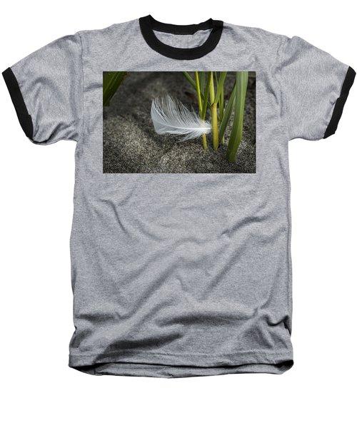 Feather And Beach Grass Baseball T-Shirt