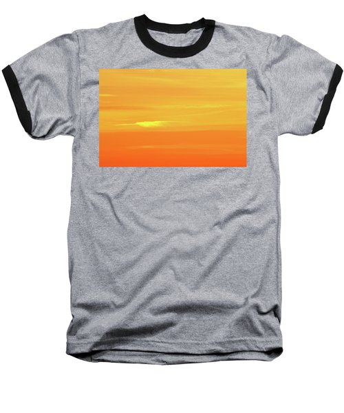 Feather Cloud In An Orange Sky  Baseball T-Shirt by Lyle Crump