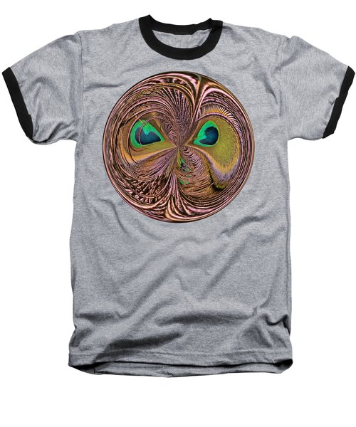 Feather Eyes Orb Baseball T-Shirt by Marv Vandehey