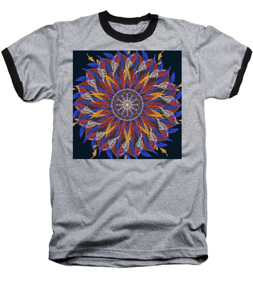 Feather Mandala Iv Baseball T-Shirt