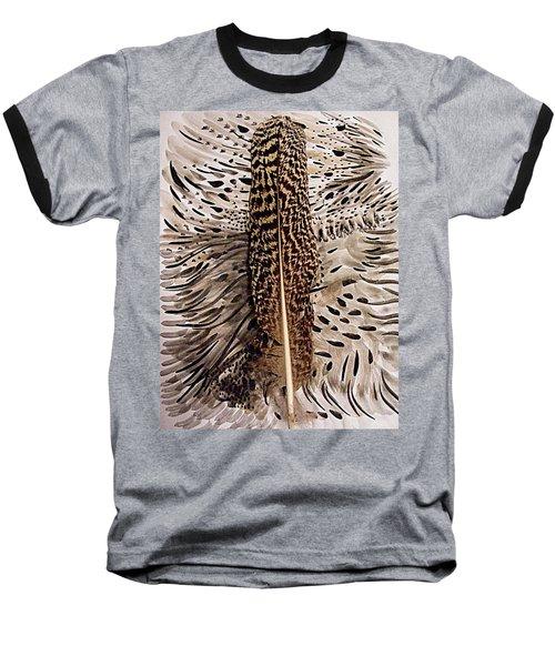 Feather Baseball T-Shirt by Nancy Kane Chapman