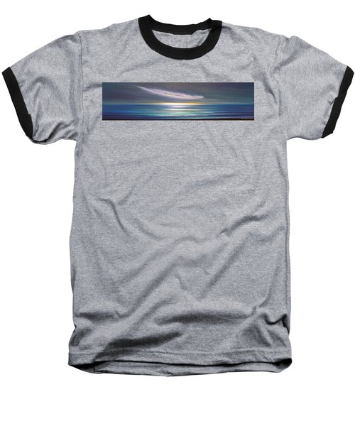 Feather Panoramic Sunset Baseball T-Shirt