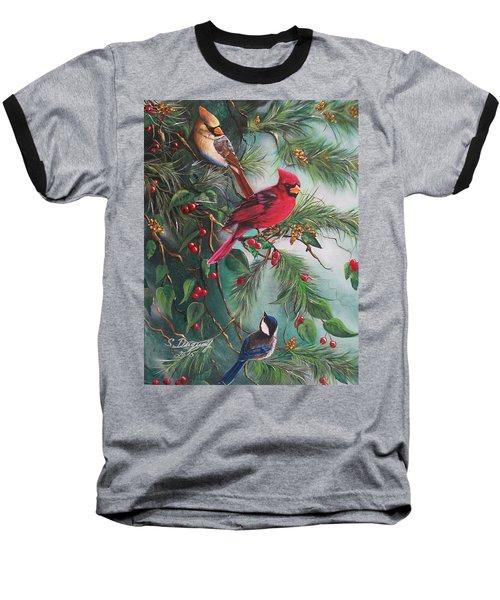 Feathered Friends  Baseball T-Shirt