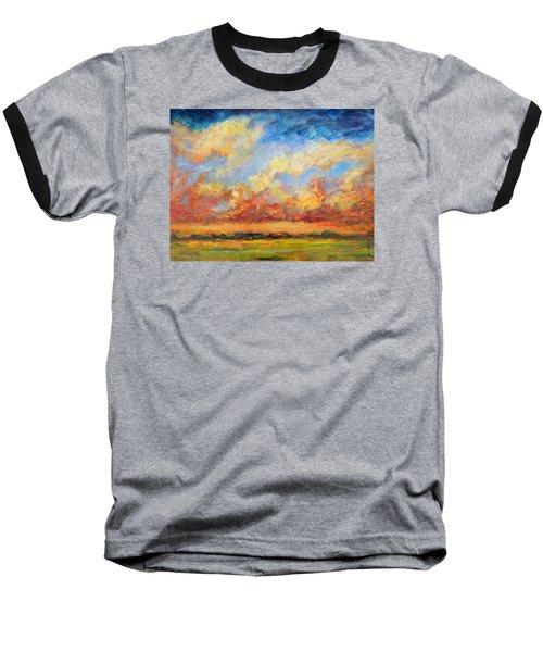 Feathered Sky Baseball T-Shirt