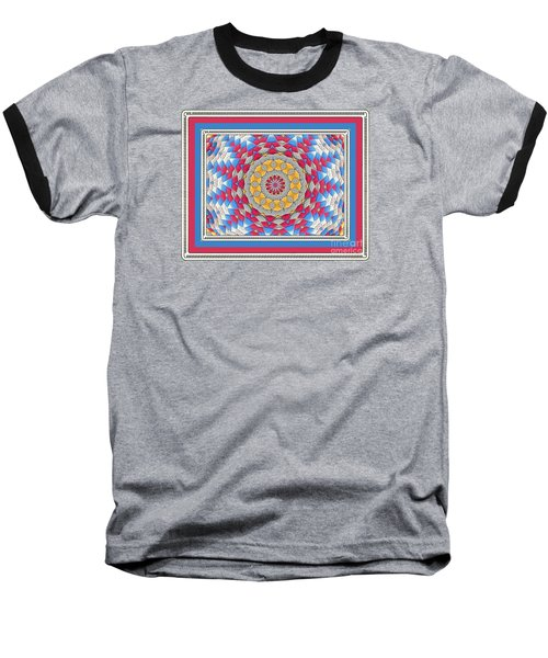 Feathered Star Quilt Baseball T-Shirt
