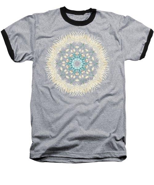Feathers And Catkins Kaleidoscope Design Baseball T-Shirt