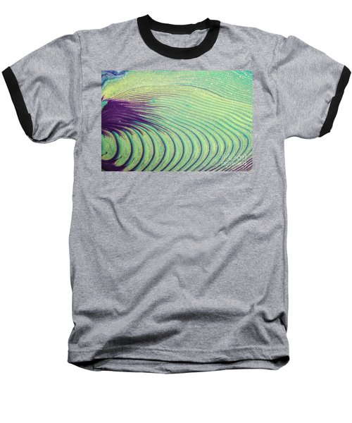 Feathery Ripples Baseball T-Shirt by Julie Clements