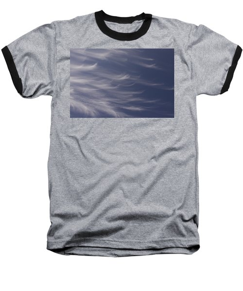Feathery Sky Baseball T-Shirt by Shari Jardina