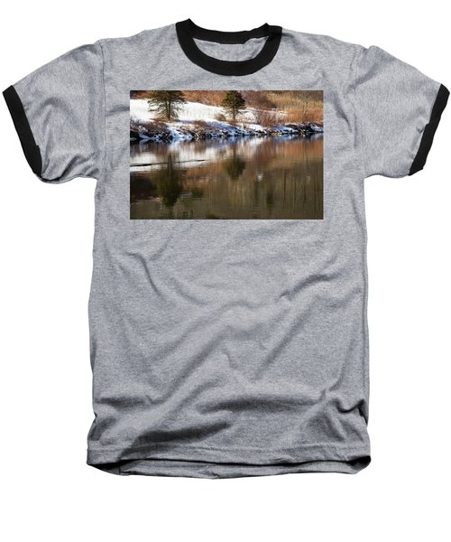 Baseball T-Shirt featuring the photograph February Reflections by Karol Livote