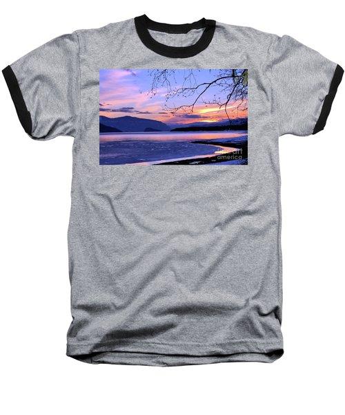February Sunset 2 Baseball T-Shirt by Victor K