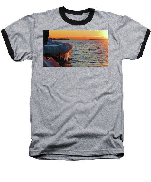 Feburary Sunset Cape Vincent Baseball T-Shirt