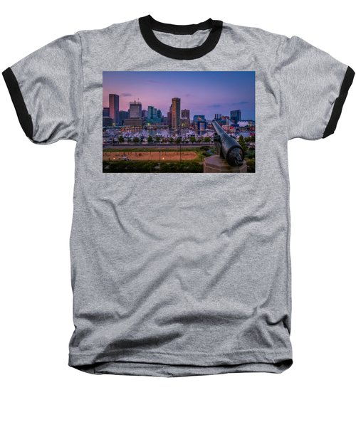 Federal Hill In Baltimore Maryland Baseball T-Shirt by Susan Candelario
