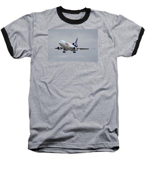 Fedex Express Mcdonnell Douglas Md-10-10f N359fe Phoenix Sky Harbor December 23 2015 Baseball T-Shirt by Brian Lockett