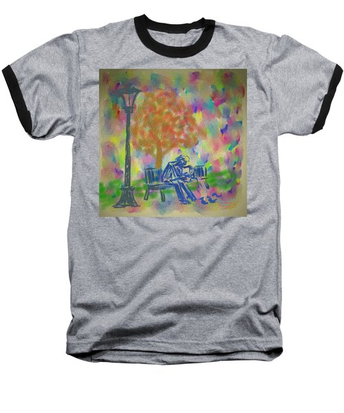 Baseball T-Shirt featuring the painting Feeding The Birds by Kevin Caudill