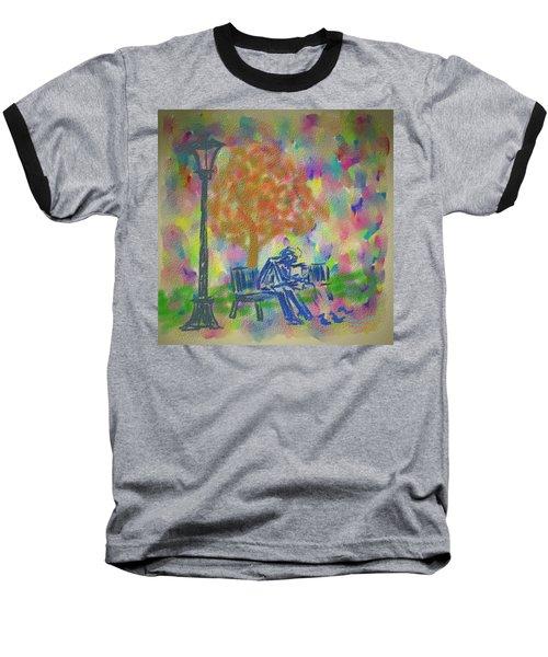 Feeding The Birds Baseball T-Shirt