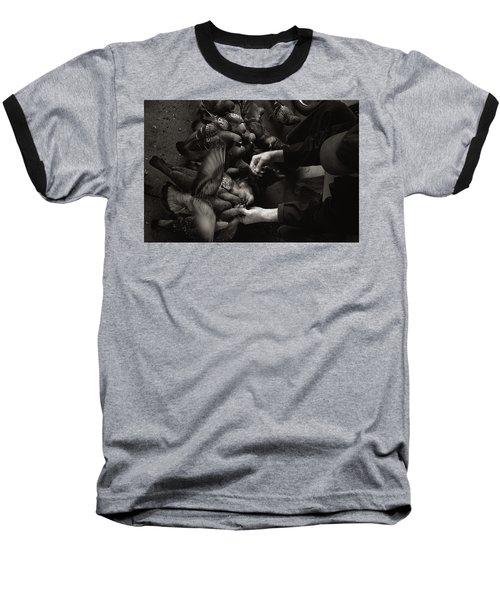 Feeding The Pigeons Baseball T-Shirt