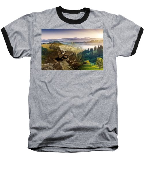 Feeding The Waterfall Montage Baseball T-Shirt