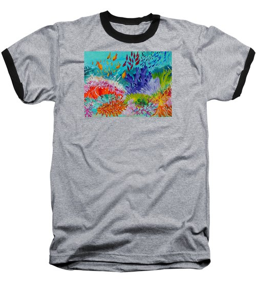 Feeding Time On The Reef #2 Baseball T-Shirt by Lyn Olsen
