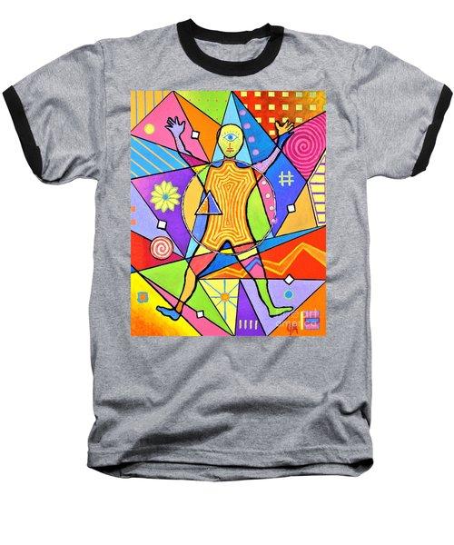 Feel The Vibes Baseball T-Shirt by Jeremy Aiyadurai