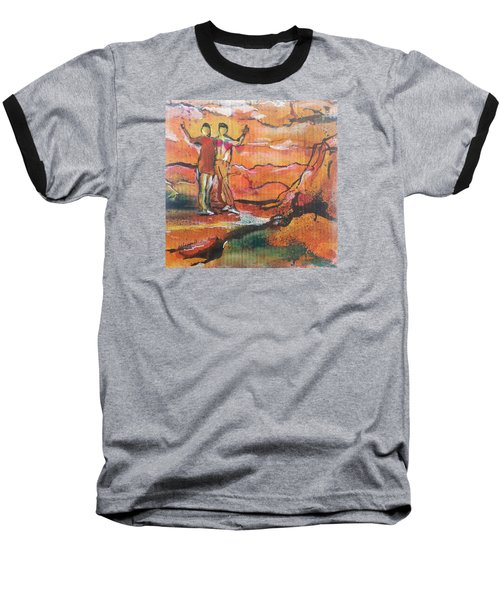 Feel The Warm Baseball T-Shirt by Becky Chappell