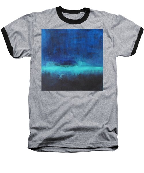 Baseball T-Shirt featuring the painting Feeling Blue by Nicole Nadeau
