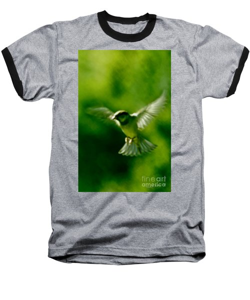 Feeling Free As A Bird Wall Art Print Baseball T-Shirt