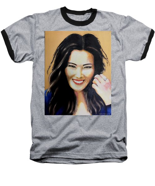 Felicia Baseball T-Shirt by Victor Minca