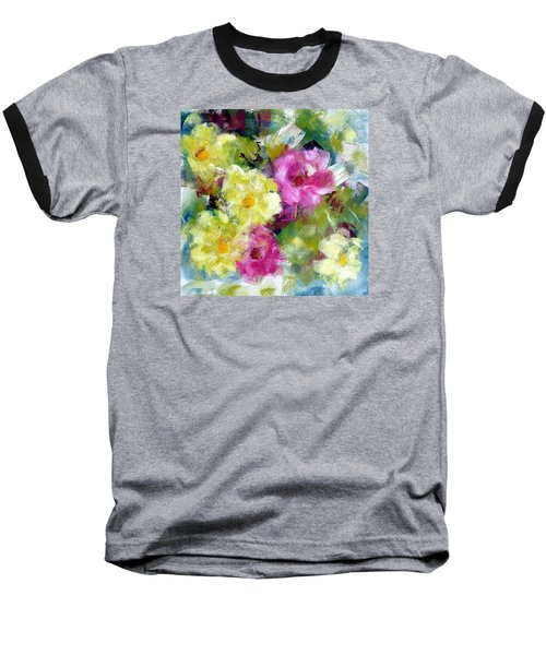 Baseball T-Shirt featuring the painting Felicidades by Katie Black