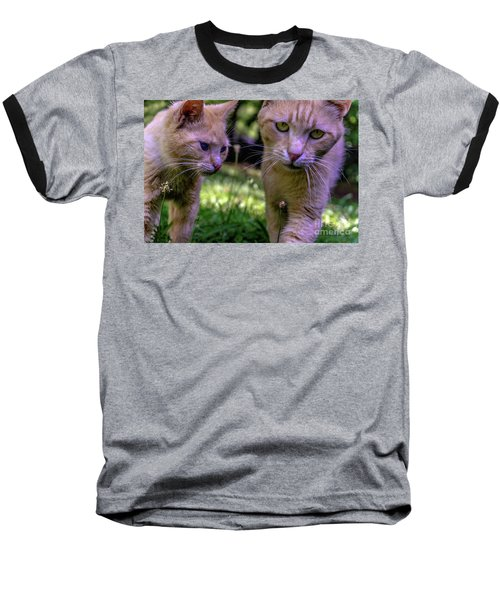 Feline Best Friends Skippy And Lovey 0369 Baseball T-Shirt
