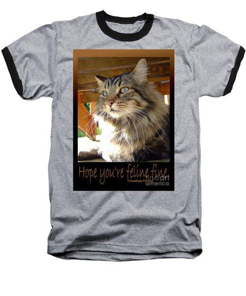 Feline Fine Baseball T-Shirt