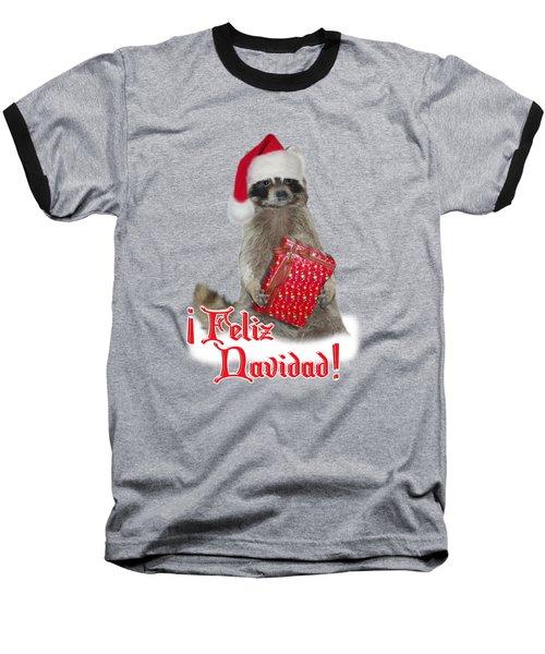 Feliz Navidad - Raccoon Baseball T-Shirt