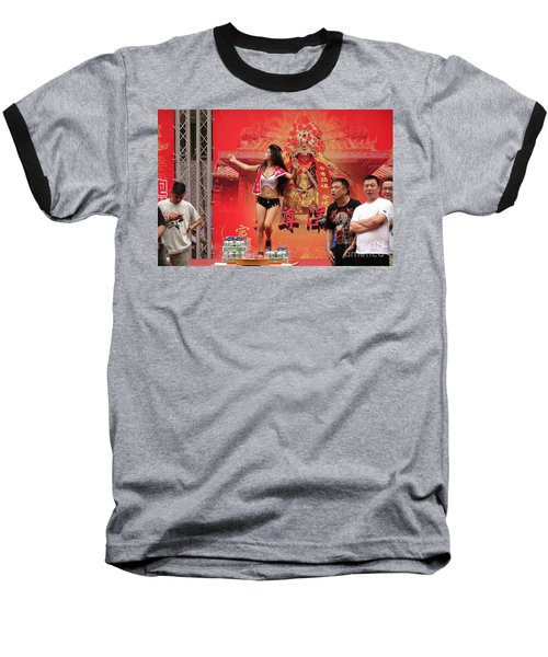 Baseball T-Shirt featuring the photograph Female Dancer At A Temple Ceremony by Yali Shi