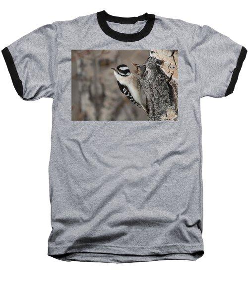 Female Downey Woodpecker Baseball T-Shirt
