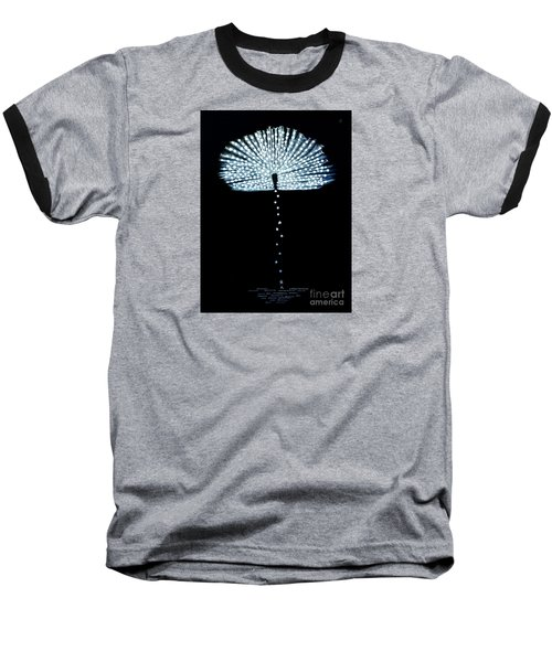 Female Feather Baseball T-Shirt by Fei A