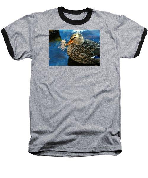 Female Mallard Duck In The Fox River Baseball T-Shirt