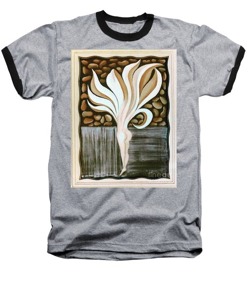 Baseball T-Shirt featuring the painting Female Petal by Fei A